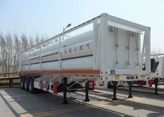 High Pressure CNG Gas Cylinder , Seamless Cng Storage Tanks Semi - Trailer